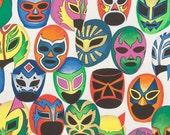 NEW- Alexander Henry Máscaras de Peleá 1 Yard Fabric