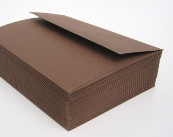 A2 Envelopes Cocoa BROWN 25 pack Stationery Wedding Supplies WINTER SALE
