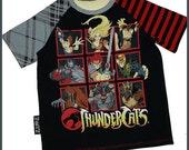 Thundercats Ho Upcycled Raglan Tee Boys Sz 5/6