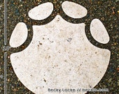Elephant Footprint photograph Outline  Detroit Zoo Royal Oak Michigan