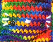 Crochet Kitty Doll Rainbow Cat Amigurumi Kawaii Kitteh