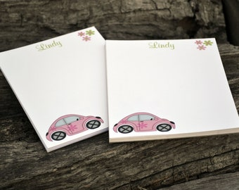 Personalized Notepads / Love Bug Personalized Notepads /Personalized Notebook / Personalized Note Pads/ Set of Notepads /  Set of 2 Love Bug