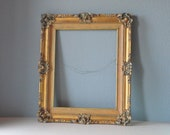 Ornate Frame in Teal and Gold