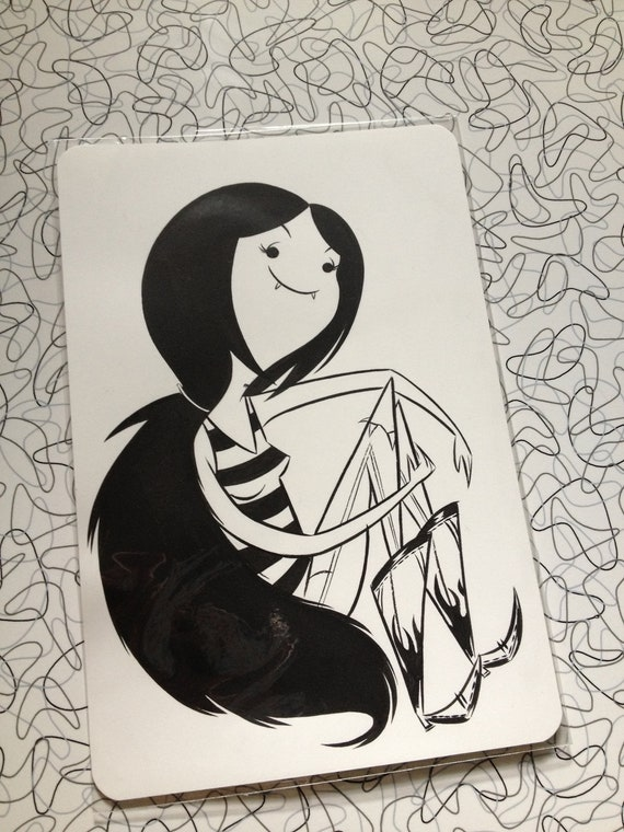 Marceline small inked piece, Original art