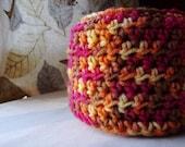 crochet scarf-long scarf-women's scarf-multicolored scarf