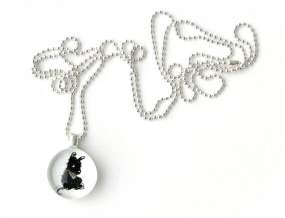 Little black creature necklace