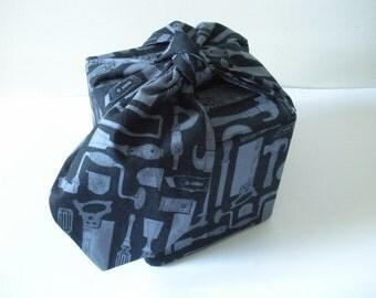 Black Cube Purse, Tool Box Purse, Bento Box Bag With Bow, OOAK