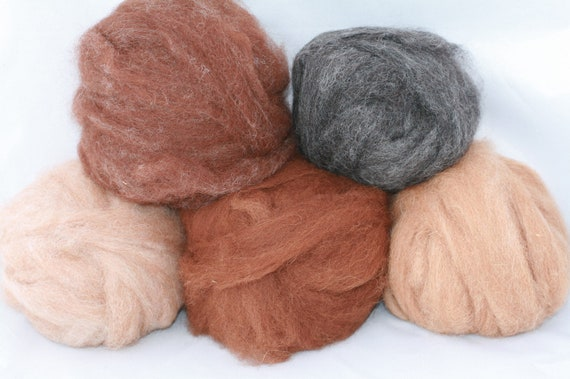 Earth tones Alpaca Sampler Kit-5 oz