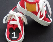 Personalized Mickey Mouse Hand Painted Children's Shoes