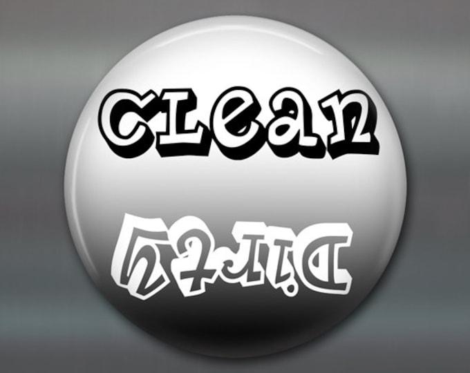 Refrigerator Magnets, dishwasher magnet, clean dirty dishes magnet, kitchen decor, large fridge magnet, big magnet, clean dishes MA-1617