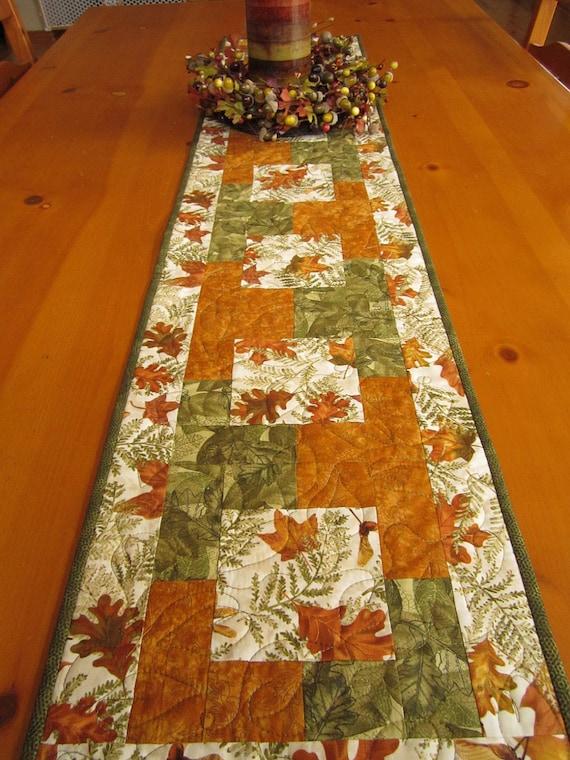 Fall Table Runner Nature's Leaves