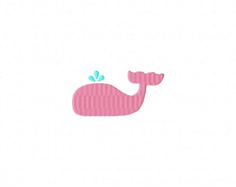 Whale SS Mini Filled Stitch Machine Embroidery Design INSTANT DOWNLOAD