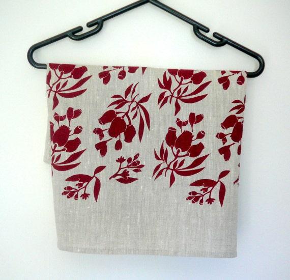 Linen Tea Towel - Hand Screen Printed