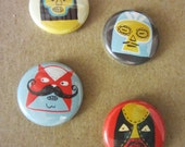 Luchadore Button or Magnet Pack (choice 2)
