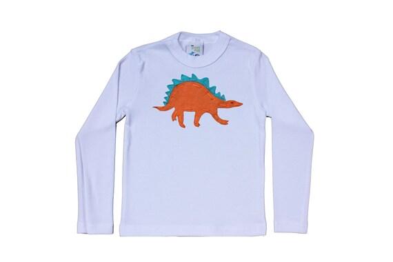 DINOSAUR Stegosaurus Felt T-shirt T Rex