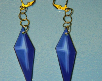 Blue Rose earrings (tiger and bunny)