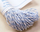 Bakers Twine - BRIGHT & BOLD Baby Blue and White String for crafting, gift wrapping, packaging, invitations - 15 yards