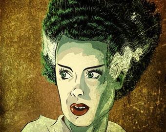 Bride Of Frankenstein 8x10 Inch Print
