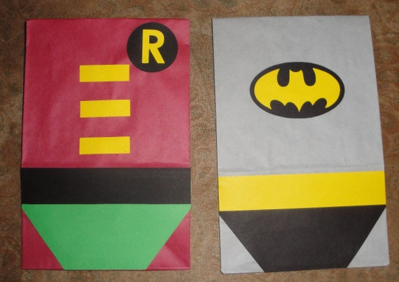 RESERVED for  susanhoover - Comic Book Superhero Theme Birthday Party Treat Sacks Goody Bags by jettabees on Etsy
