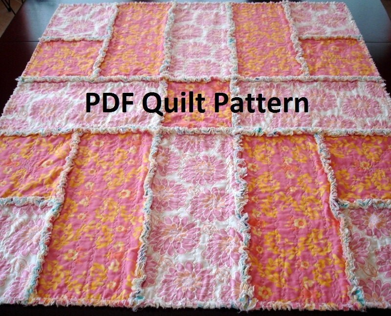 Rag Quilt Patterns For Beginners Free : Unavailable Listing on Etsy