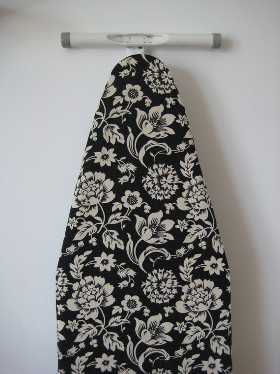 IRONING BOARD COVER black and cream laundry room decor floral wedding gift idea