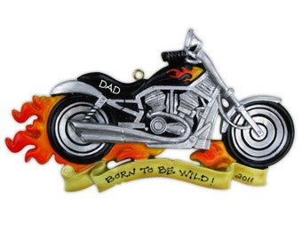Personalized Christmas Ornament Harley Davidson, Motor Cycle, Harley Fan club- Birthday Gift/ Gift Tag