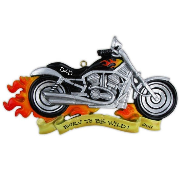 Personalized Christmas Ornament Harley Davidson Motor Cycle – Harley Birthday Cards