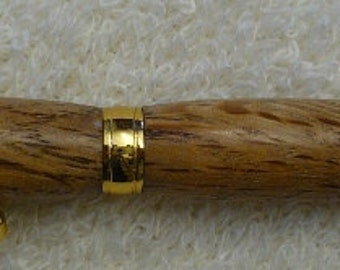 Handmade White Oak ink pen with Gold hardware, Handcrafted, recycled wood, reclaimed wood, custom made ink pen, unique ink pen, wood art,108
