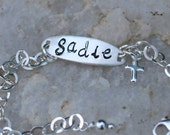 Baby Girl's Sterling Silver ID Bracelet with Cross - Christening/Baptism/Communion