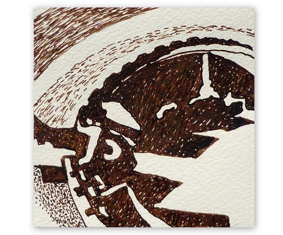dessin original  u0026 39  abstrait paysage 4 u0026 39  terre