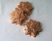 Snowflake Vintage Brass Tart Molds Jello Molds Tart Tins Vintage Kitchen Wall Decor Holiday Decor
