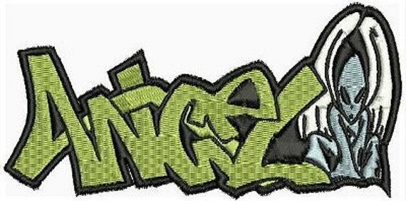 Iron on clothes patch graffiti creator