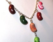 Bertie Botts Charm Drop Necklace - Harry Potter Jewelry - Handmade - Polymer Clay Food - Jelly Beans - Gifts Under 15, 20, 25