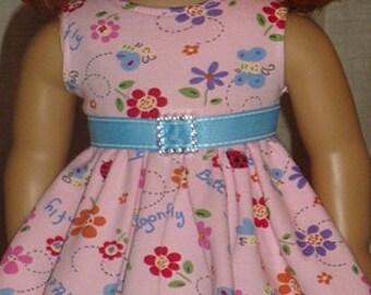 Whimsical Print Knit Twirl Dress & Leggings For American Girl Or Similar 18-Inch Dolls