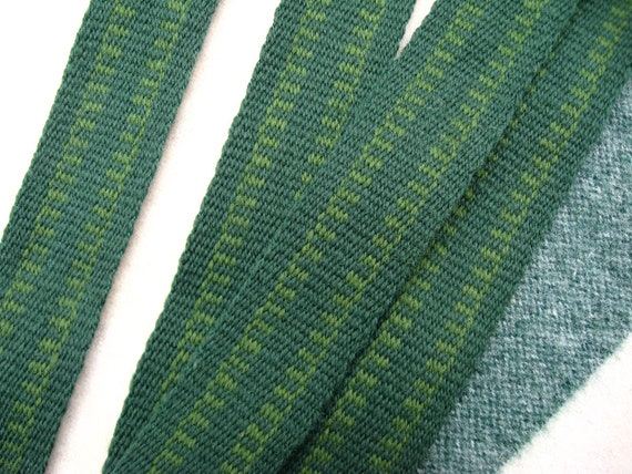 Woven Wool Strap in Green