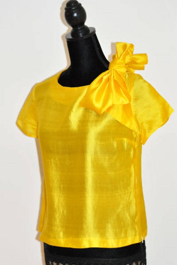 Yellow Blouse With Bow 77