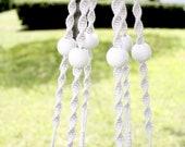 Macrame Plant Hanger- Hammock cord Macrame Hanger- Natural- White- Nautical- Custom Made to Order
