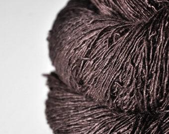 Boiling cacao - Tussah Silk Fingering Yarn