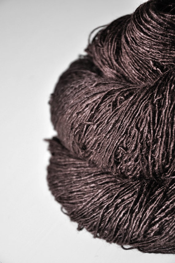 Boiling cacao - Tussah Silk Yarn Fingering weight