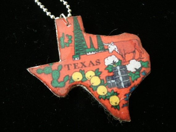Items Similar To Texas Antique Map: Items Similar To Vintage Texas Map Pendant On Etsy
