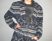 southwestern jacket / blazer / denim sky color / l