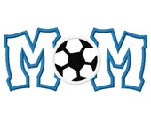 Soccer Mom Digital Embroidery Machine Applique Design 10614