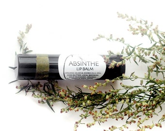 Absinthe Lip Balm - yummy and very moisturizing - in black recycled-plastic tube