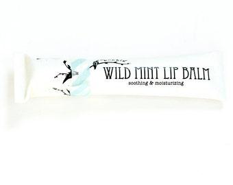 Wild Mint Lip Balm - organic - in eco friendly tube - .21 oz