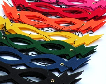 Lightning Bolt SUPERHERO MASK - choose from 13 colors - Most Popular One Size Fits all Hero Mask - Halloween Party Costume Masks