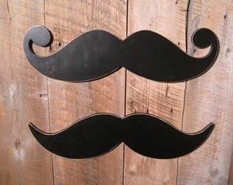Set of 2 Moustache Chalkboards - Wall Art