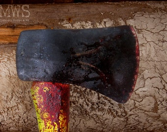 Emergency Axe Prop - Faux Axe Bloodied - Haunt - Halloween - Stage Performance