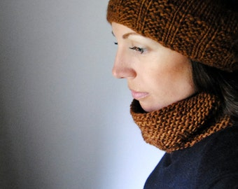 HULL slouchy hat knitting pattern pdf