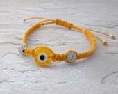 You Are my Sunshine, macrame bracelet