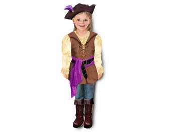 Girl pirate costume. Single outfit for magnetic dolls.